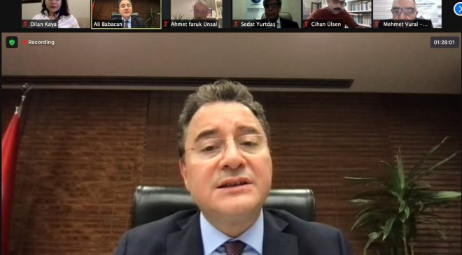 Tigris Diyalogları DEVA Partisi Genel Başkanı Ali Babacan'ı konuk etti